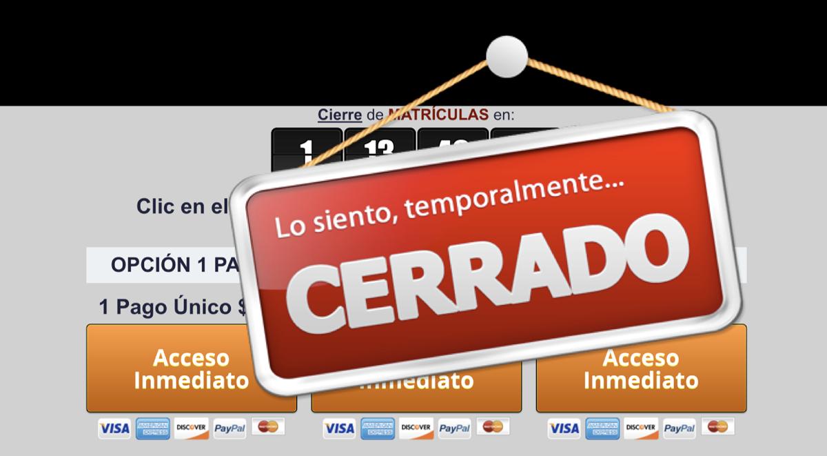 Cerrado Temporalmente Cursos Formacion Inmobiliaria Academias Inmobiliarios Lista Espera